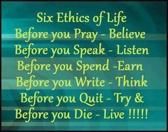 Six Ethics of Life ! | Inspira Smiles !