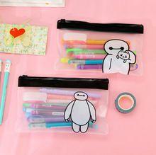 Х46 1X Kawaii канцелярские симпатичные ясно большой герой Baymax мешок ручки чехол держатель для хранения Pencilcase школьные принадлежности мешок косметического(China (Mainland))