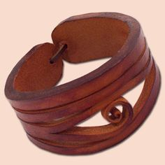 Handmade Leather Bracelet 4040 red di snis su Etsy, $17.00