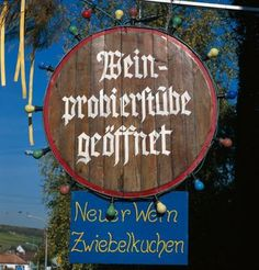 Wine Tavern Sign along the German Wine Road - GNTB/Marth, Gundhard