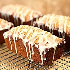 Gingerbread Kahlua Date Nut Bread with white chocolate, topped with a Cream Cheese Kahlua spread, perfect for the holidays