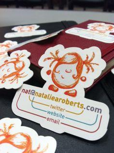 Natalie Roberts - Business Card Design Inspiration   Card Nerd repinned by www.blickedeeler.de