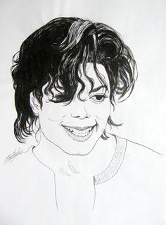 Michael Jackson portrait - ink drawing by gosia-jasklowska on deviantART Michael Jackson Drawings, Michael Jackson Art, Michael Love, Amazing Drawings, Magic Art, Love Painting, Love Art, Art Sketches, Photo Art
