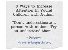 5 Tips for Increasing Attention in Children with Autism