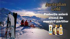 Entuziastii sporturilor de iarna sunt expusi razelor UV in exces. Combinatia intre altitudinea ridicata si razele UV reflectate de zapada, pot cauza imbatranirea prematura a pielii. In plus, pielea se usuca mai repede din cauza frigului. Asa ca nu uita sa iei cu tine lotiunea cu factor de protectie solara #AustralianGold.