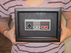 Upcycled Nintendo NES Controller Game Pad Shadowbox Art. $20.00, via Etsy.
