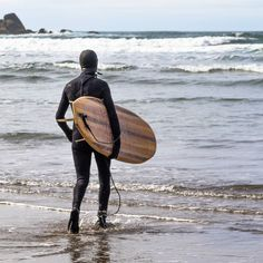 What a great day to go to the Oregon coast.  I went to the beach to film some of my friends and this man comes up to me with this beautiful board. At first I was nervous that he was going to ask me to leave but thankfully he didn't. Instead he asked if I could take his picture. He then explained to me that he had made the board that he was carrying and this was the first time he was going to ride it. I was so excited for him! He asked if he could pay me for the photo. I told him no. Hearing…