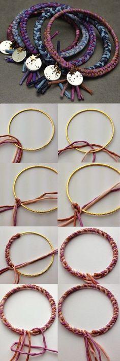New jewerly making boho bracelet tutorial Ideas Armband Tutorial, Bracelet Tutorial, Diy Tutorial, Diy Bracelet, Crochet Bracelet, Bracelet Charms, Photo Tutorial, Boho Jewelry, Jewelry Crafts