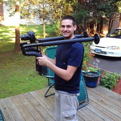 Double shoulder camera rig cost me $20 to make: by @Anthony Vargas Storo
