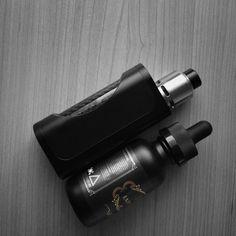 In'Sane RDA dripper tank and l'Atelier Skinny Box Mod