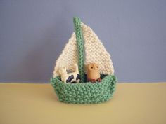 Little Knit Sailboats Boats - Free Pattern