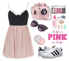 Pinky promise ☝️ by brcdms on Polyvore featuring polyvore, fashion, style, Topshop, adidas Originals, H&M, Sephora Collection and clothing