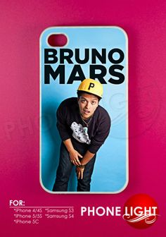 Bruno Mars Blue Phone Case  Bruno Mars Case  Rubber by PHONELIGHT, $13.99