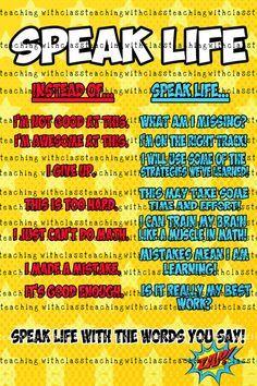 Superhero Classroom Poster Speak Life PBIS by TeachingwithClass