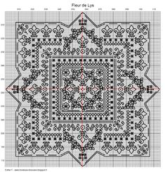 blackwork patterns | Brodeuse Bressane: Fleur de Lys