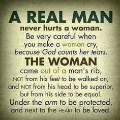 I think all of us..men and women have lost their self worth in this world. We tear down others to lift ourselves up. Men don't lead but control and woman don't submit but bow down. We weren't made this way and we can CHANGE this @ anytime in our lives!!