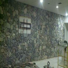 Stone rock wall Rock Wall, Tile Installation, Carpet Tiles, Tile Floor, Hardwood, Stone, Natural Wood, Rock, Carpet Squares