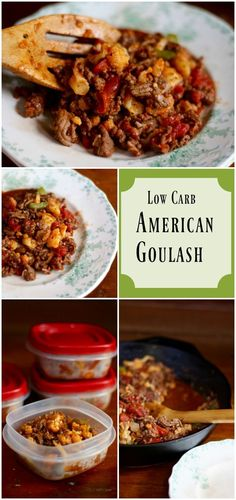 SO good! A comfort food classic made low carb! This low carb American goulash is quick and easy with a little over 4 net carbs per serving. From http://Lowcarb-ology.com