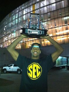 Kim English ~ I love this pic! Silently flipping the bird to the big 12 for dis'n us holding the Big 12 Champ trophy, after the commissioner said horrible things about MIZZOU. I got it! Most didn't. lol Good luck, English!