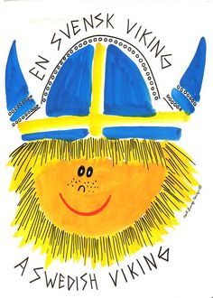 Drawing-A Swedish Viking. So cute!