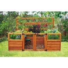 nice enclosed raised garden- a really interesting idea... might work to prevent the pooches from destroying my garden!