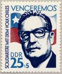 Presidente socialista chileno Salvador Allende. Elegido por voto popular. Fue derrocado por un golpe de estado en 1973.