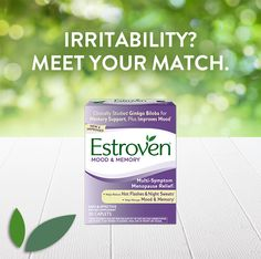 Irritability? Meet your match. Estroven Mood & Memory helps you feel like yourself again.* #menopause #original