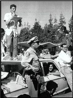 Mario Savio at FSM rally- read up on this kids - it didn't start with 'Occupy'