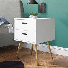Simona 2 Drawer Bedside Table Norden Home 3 Drawer Bedside Table, Bedside Cabinet, Bedside Tables, Side Table With Storage, Upholstered Bed Frame, Painted Drawers, Hazelwood Home, Chester, Bedroom Furniture