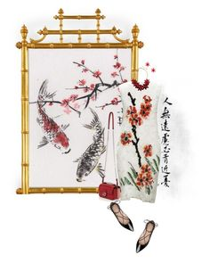 """Chinese Art"" by sharonbeach ❤ liked on Polyvore featuring Vivienne Tam, Kate Spade, Fendi and art"