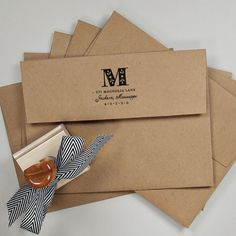Wood Handle Return Address Stamp
