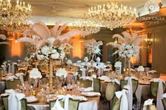 Gatsby theme wedding table decor at the Grand Bohemian Hotel in Asheville NC Hotel Reception, Hotel Wedding, Wedding Table, Wedding Venues, Grand Bohemian Hotel, Flapper Party, Gatsby Theme, Wedding Decorations, Table Decorations