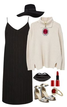 """9"" by may-princess on Polyvore featuring Manolo Blahnik, River Island, San Diego Hat Co., MANGO and Giorgio Armani"