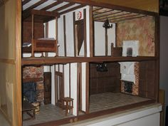 dolls houses and minis: A Resource for Tudor Dolls Houses English Tudor, Tudor House, House Inside, Miniature Crafts, Doll Furniture, Minis, Dolls, Dollhouses, Jacobean