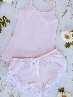 Laced Blushing Bride Tap Shorts
