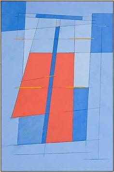 Irma Salo Jæger <em>Maritimt</em><br />tempera og olje på lerret, 146x96 cm