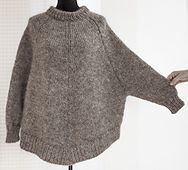 Ravelry: Arvingen $ pattern by Pia Hernø - Grey knitted sweater poncho (hva)