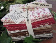 These bundles have been so popular that we just had to cut more... back on the shelf from Andover Fabrics, designed by Renee Nanneman of Need'l Love... look at the beautiful fabrics from the collection Villageware Toile  :) $63.00 per delightful bundle of fabric joy ;)