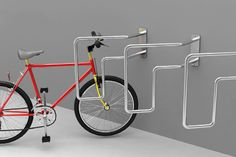 45Bici is a modular bike rack system intended for urban areas. The stand bends to 45 degrees angle thus saving space while parking the cycle. It makes place for pedestrians and is unobtrusive on the sidewalk. In countries where cycles are predominantly used, this stand will be a handy integration. Designer: André Moreira Dias