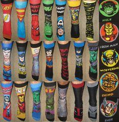 Groomsmen Gifts COOL UNIQUE Wedding Party Gifts Men's Super Hero Bachelor Socks #MarvelDCComics #Casual