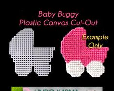 Plastic Canvas Christmas, Plastic Canvas Crafts, Plastic Canvas Patterns, Babyshower, North Pole Sign, Halloween Baskets, Cut Out Shapes, Pattern Images, Baby Patterns