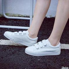Women shoes Flats Zapatos - Women shoes Casual Fall - Women shoes For School - - Women shoes Casual Wedges - Women shoes High Heels 2020 Comfortable Sneakers, Casual Sneakers, Leather Sneakers, Sneakers Fashion, Fashion Shoes, Shoes Sneakers, Platform Sneakers, Pu Leather, Shoes Sandals