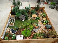 Ok, a fairy village and then decorate it for each season....I like it!