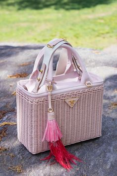 A Walk in the Park With Prada's Pretty and Perfect Wicker Bags
