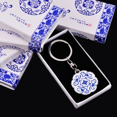 Blue and white porcelain keychain chinese style unique commercial gifts abroad on AliExpress.com. $11.89