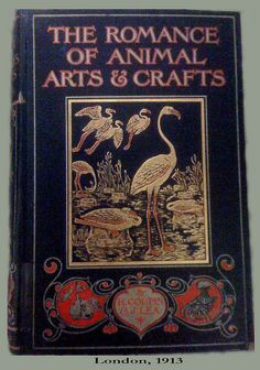 Romance of Animal Arts and Crafts by H. Coupin and John Lea, 1913 Book Cover Art, Book Cover Design, Book Design, Book Art, Vintage Book Covers, Vintage Books, Vintage Posters, Wild Book, Romance