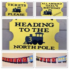 Polar Express Banner and Ticket Sign