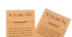 Bracelet de sororité, Big Little Sorority personnalisés cadeaux bijoux