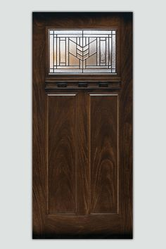 For a Craftsman-style front door, look for recessed panels, wood-grain texture, and period details like dentil shelves and patterned and leaded-glass lights.  Shown: Feather River factory-finished door, about $530 (prehung); homedepot.com | thisoldhouse.com