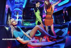 Hop on the Party Bus With Alexander Wang - style.com - neons